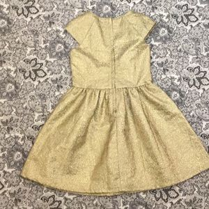 "CRAZY 8 gold lame' sz8 28L B26"" fit n flare dress"